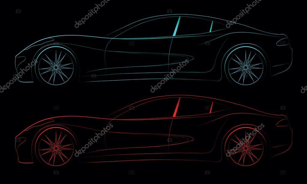 Car Symbol On Black Background Stock Vector Valveat 21554501