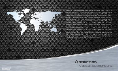 Economic brochure and presentation with globe on gray background