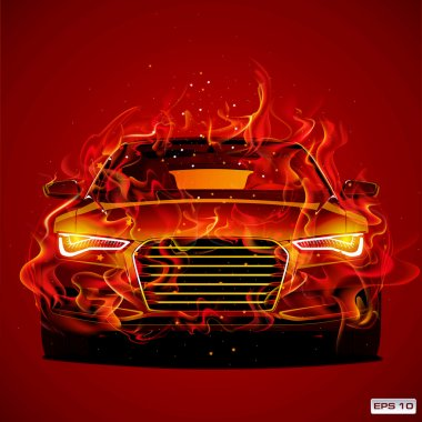Abstract design of modern concept sport car, automobile, vehicle
