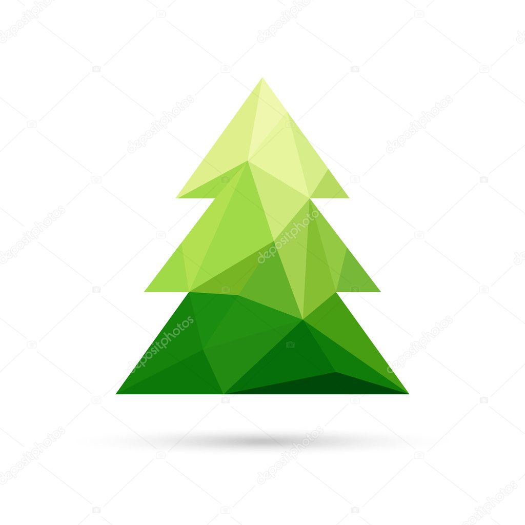 Abstract christmas tree made of triangles