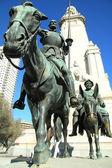 Fotografie Denkmal für Cervantes in Madrid
