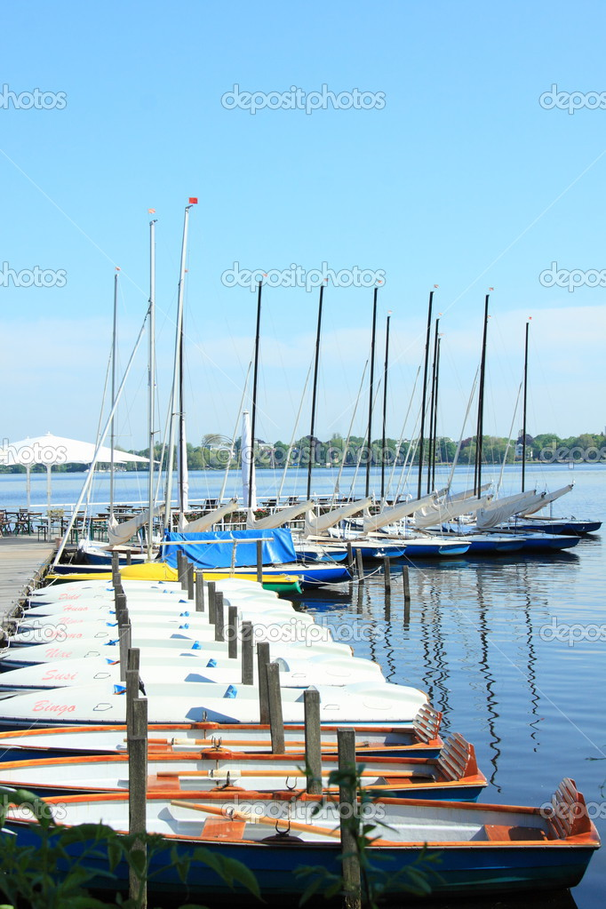 Mooring on the Alster — Stock Photo © colapesce #25501233