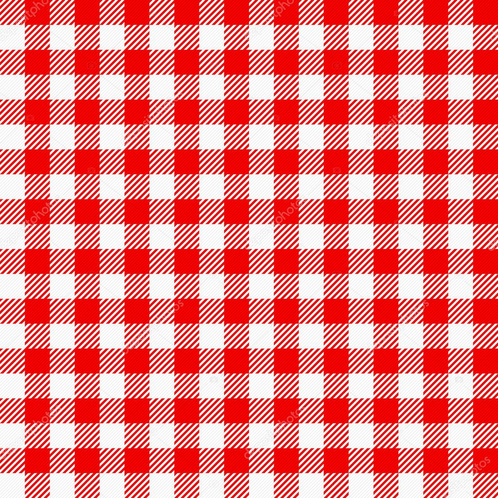 Red White Plaid Tablecloth U2014 Stock Vector #24747819