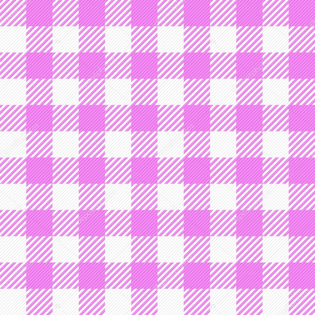 Pink White Plaid Tablecloth U2014 Stock Vector #46196361