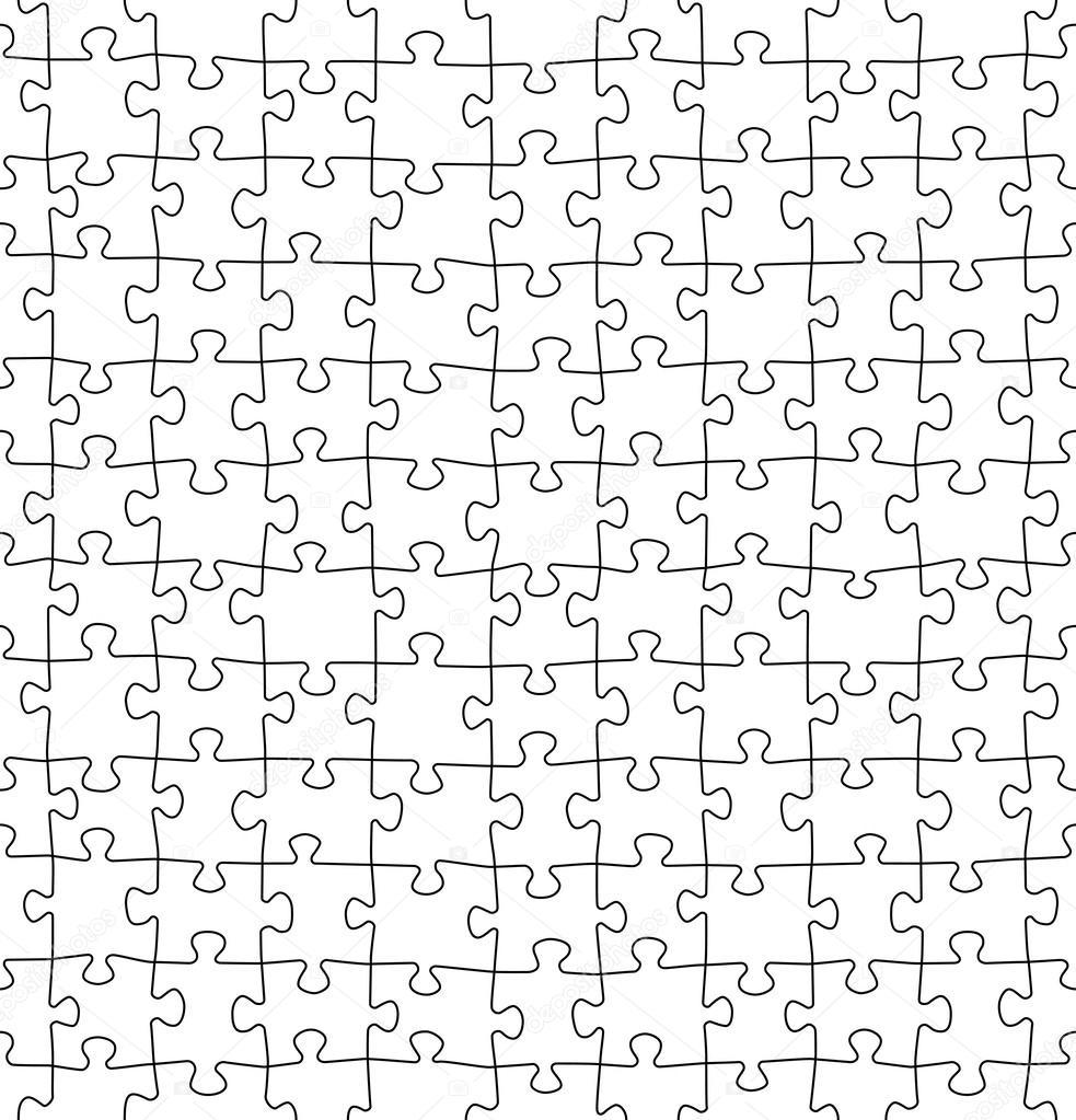 nahtlose jigsaw puzzle muster stockvektor - Puzzle Muster