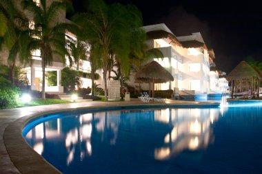 Illuminated pool Playa del Carmen