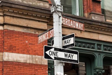 SOHO street signs in New York, USA