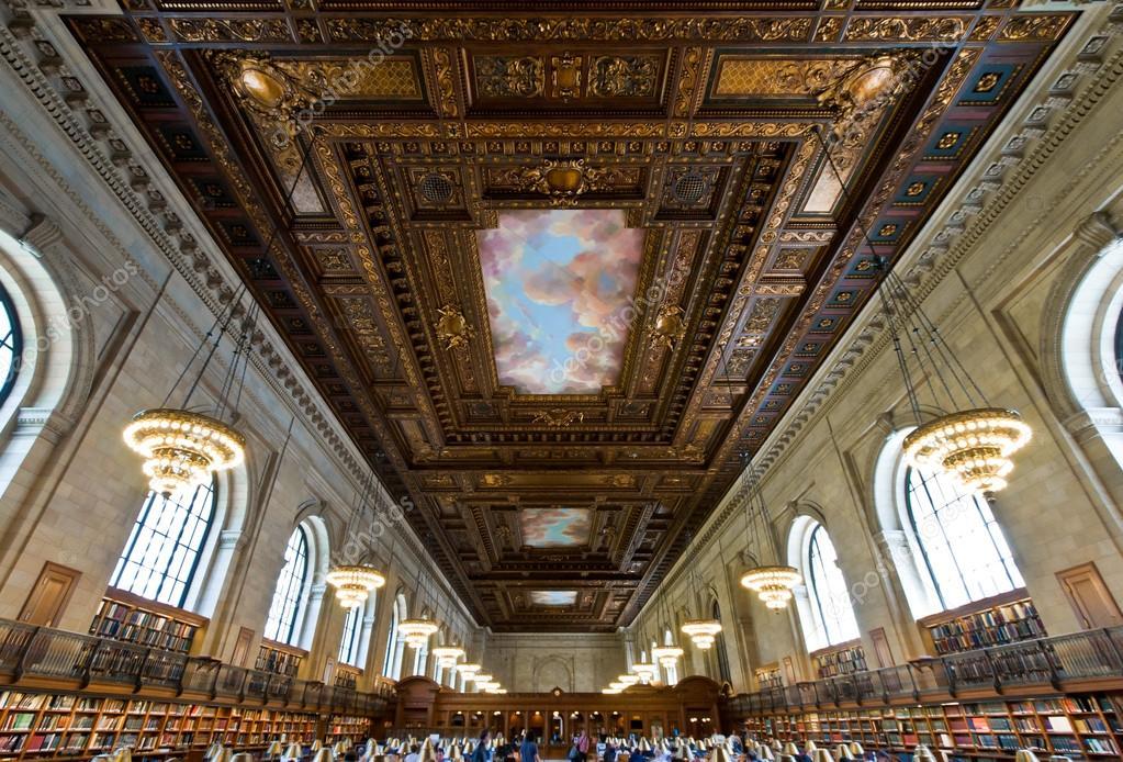 Sala di lettura principale rosa nella biblioteca pubblica for Sala new york