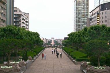The Arc de Triomphe from La Défense headquarter