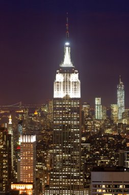 Manhattan and Empire State building, New York, USA.