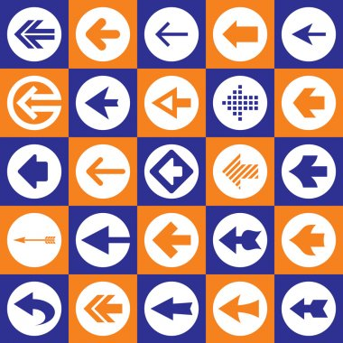 Arrows Sign Icons Set