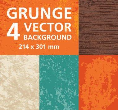Grunge - 4 Vector Backgrounds
