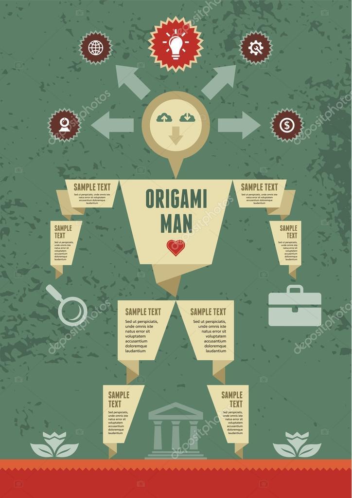 Origami Man Stock Vector