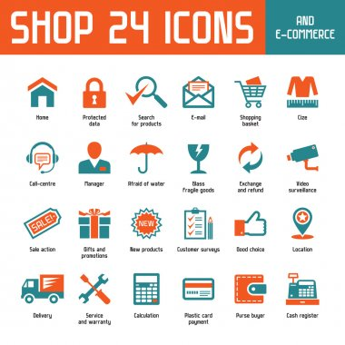 Shop 24 Vector Icons