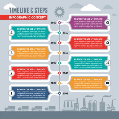 Infographic Vector Concept - Timeline & Steps