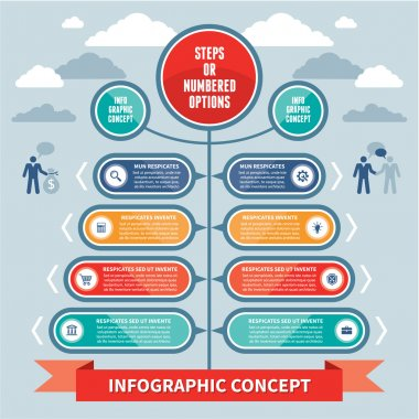 Infographics Concept - Steps or Numbered Options - Vector Scheme