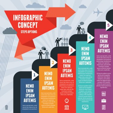 Infogrpahic Business Concept Steps Options