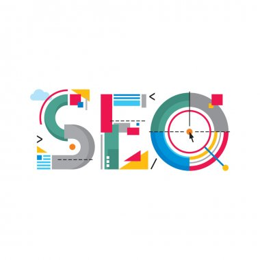 SEO - Search Engine Optimization - word sign abstract illustration