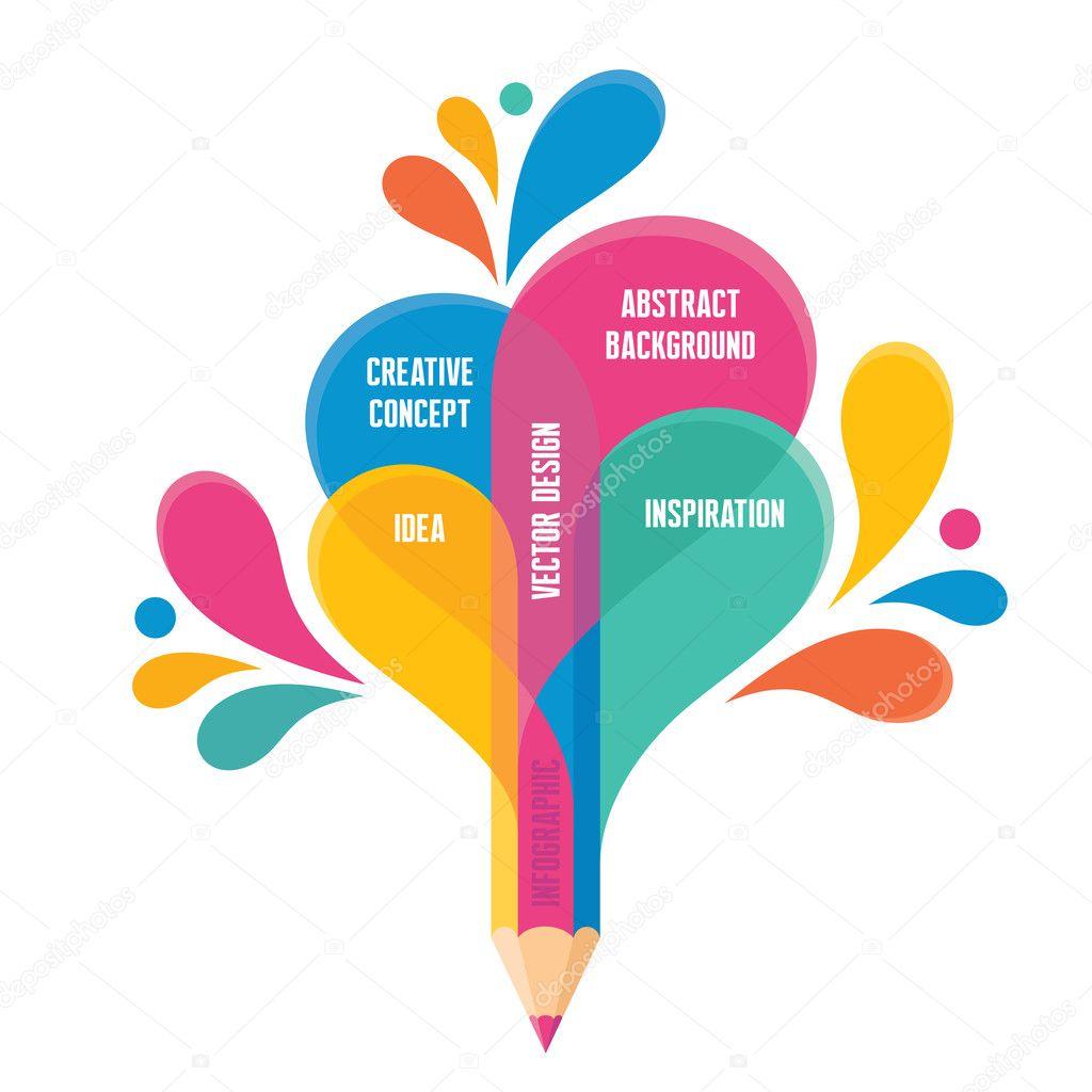 Infographic Concept - Creative Design - Pencil Illustration