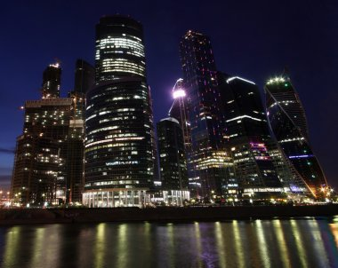 Moscow  City lights