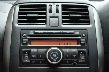 Car radio panel