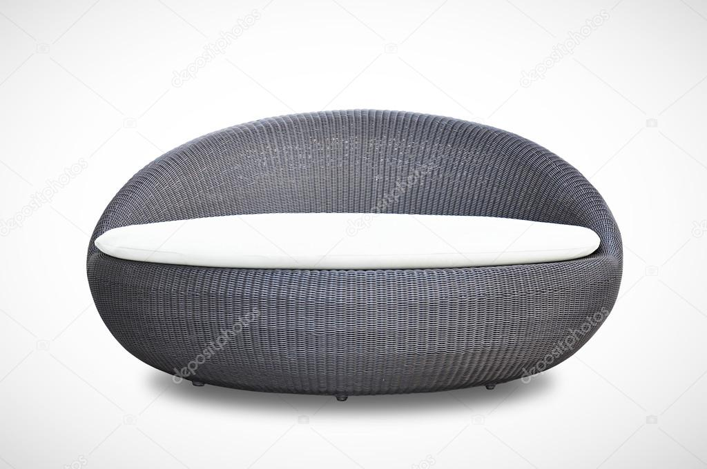 Sofa runde form  Runde Form-Wicker-Sofa-Bett — Stockfoto © kritchanut #36015543
