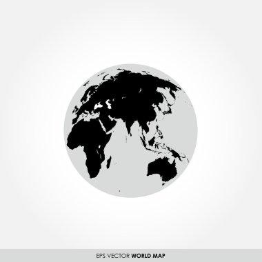 World map on globe icon