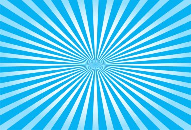 Colorful blue ray sunburst style abstract background