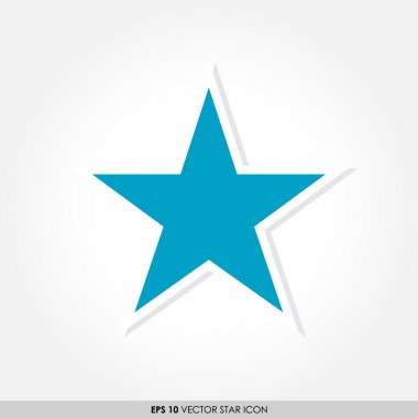 Blue star vector icon