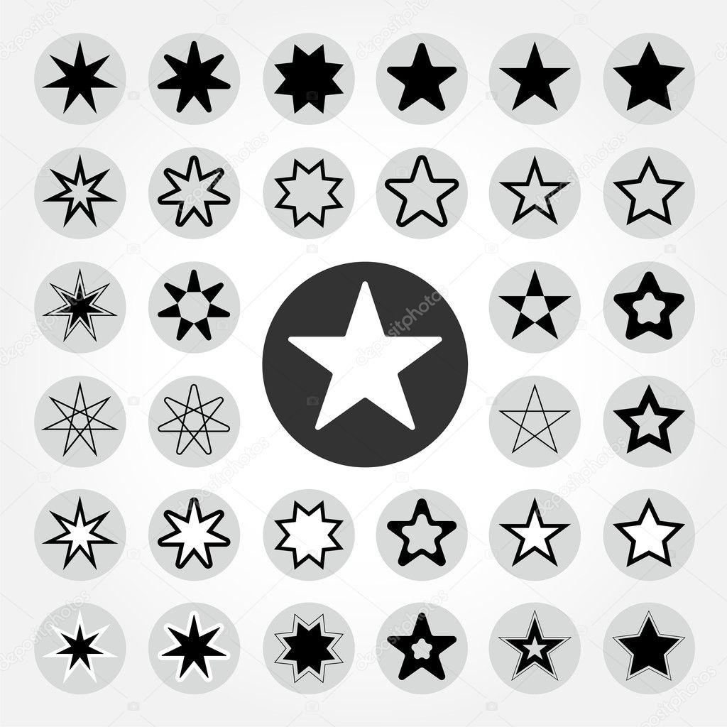 Star vector icon set