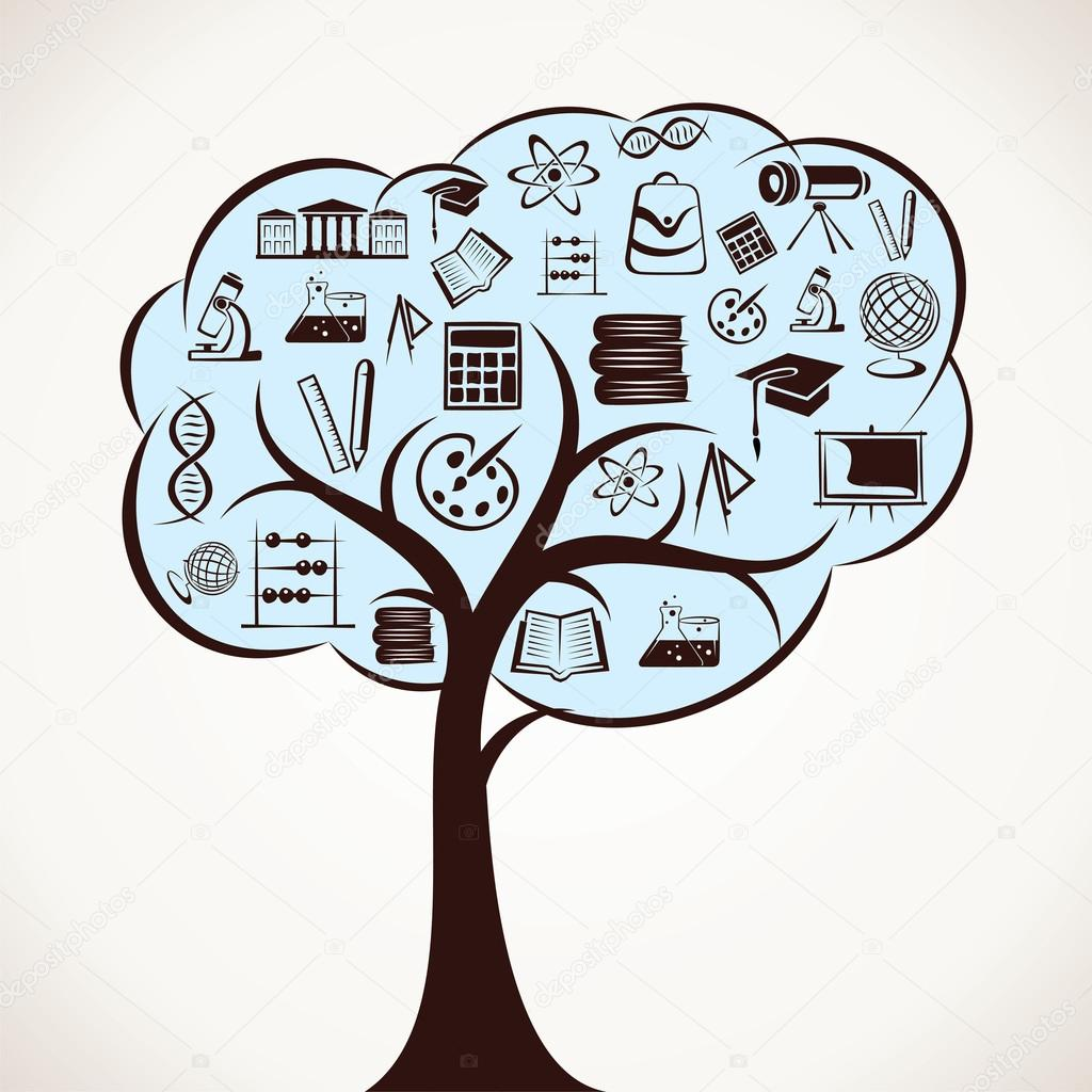 educational icon tree
