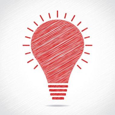 Red sketch bulb design