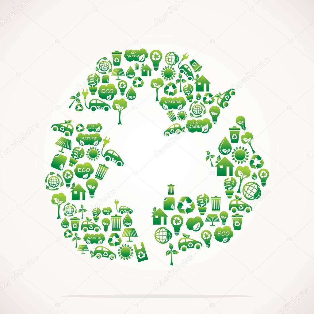 recycle icon design with eco icon