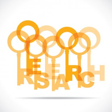 Research word with orange keys