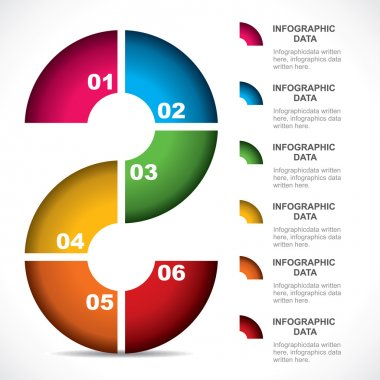 abstract shape colorful infographic