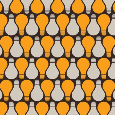retro bulb pattern background