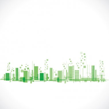 green abstract city