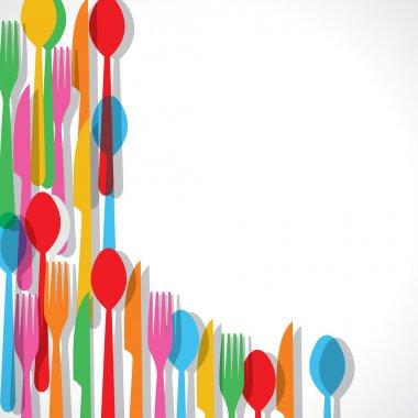 Colorful forks background