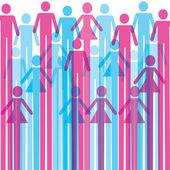 Skupina barevné mužské a ženské ikony