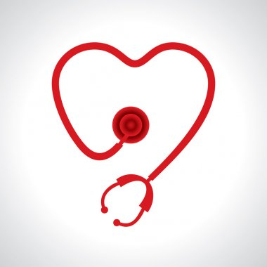 Stethoscope make a heart shape