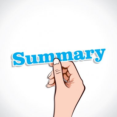 Summary word in hand
