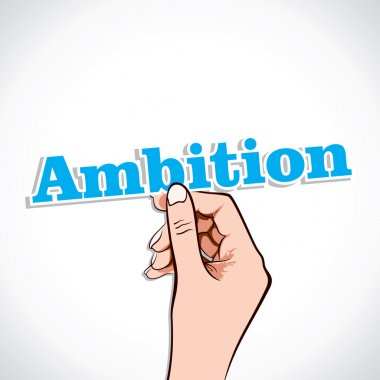 ambition word in hand