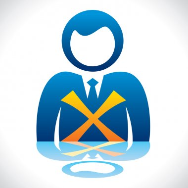 businessmen with wrong symbol