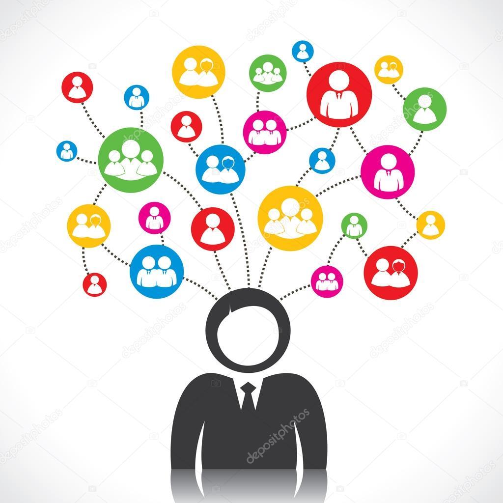 Social connection — Stock Vector © designwork07 #24298733