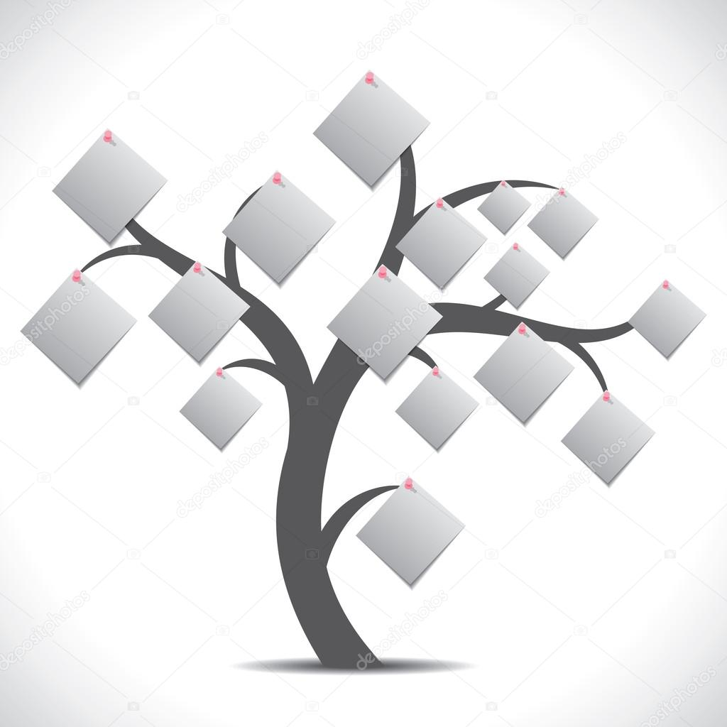 paper note tree