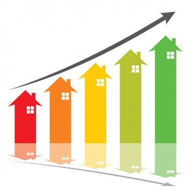colorful house graph