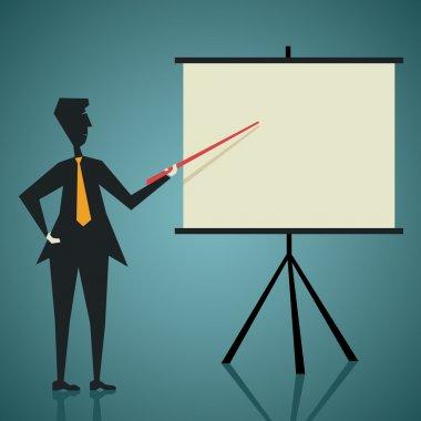 Businessmen give presentation stock vector