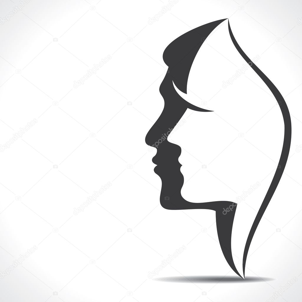 Man and woman face