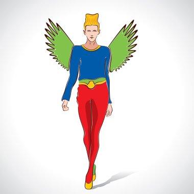 Fashion flying lady