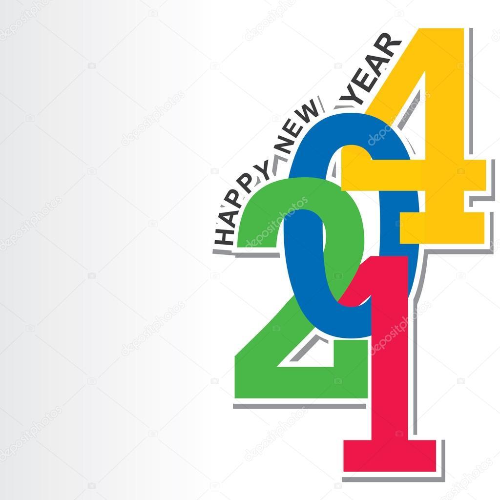 Happy new year 2014 — Stock Vector © designwork07 #32455917